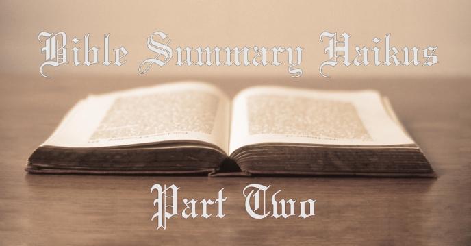 bible haiku two
