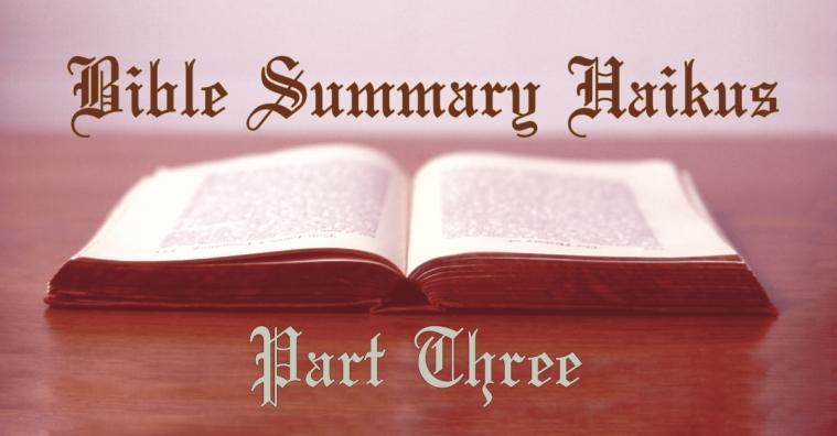 bible haiku three